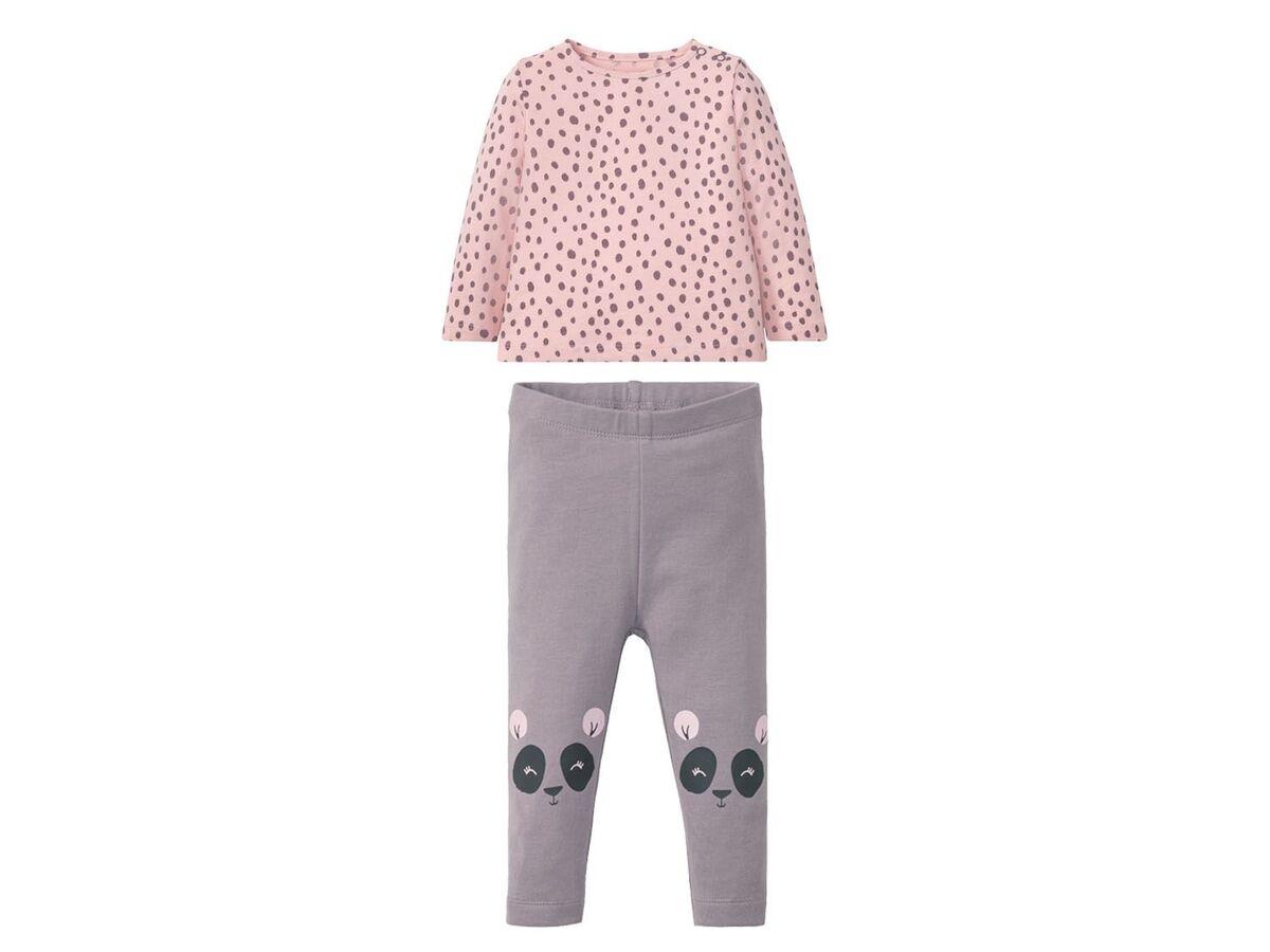 Bild 2 von LUPILU® Baby Set Mädchen, 2-teilig, mit Schulterknöpfung