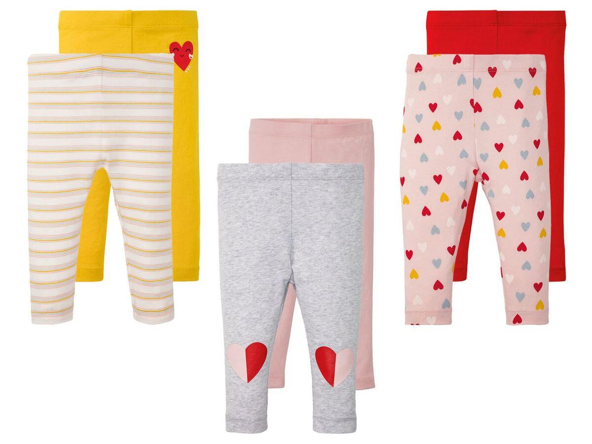 Bild 1 von LUPILU® Baby Leggings Mädchen, 2 Stück, mit elastischem Bund, mit Baumwolle