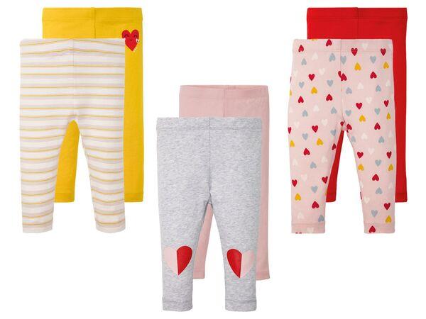 LUPILU® Baby Leggings Mädchen, 2 Stück, mit elastischem Bund, mit Baumwolle