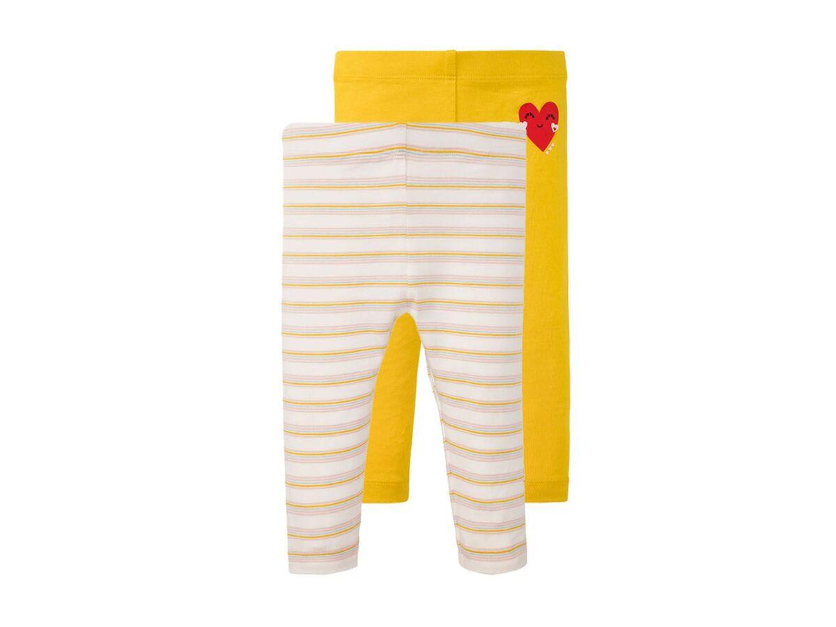 Bild 2 von LUPILU® Baby Leggings Mädchen, 2 Stück, mit elastischem Bund, mit Baumwolle