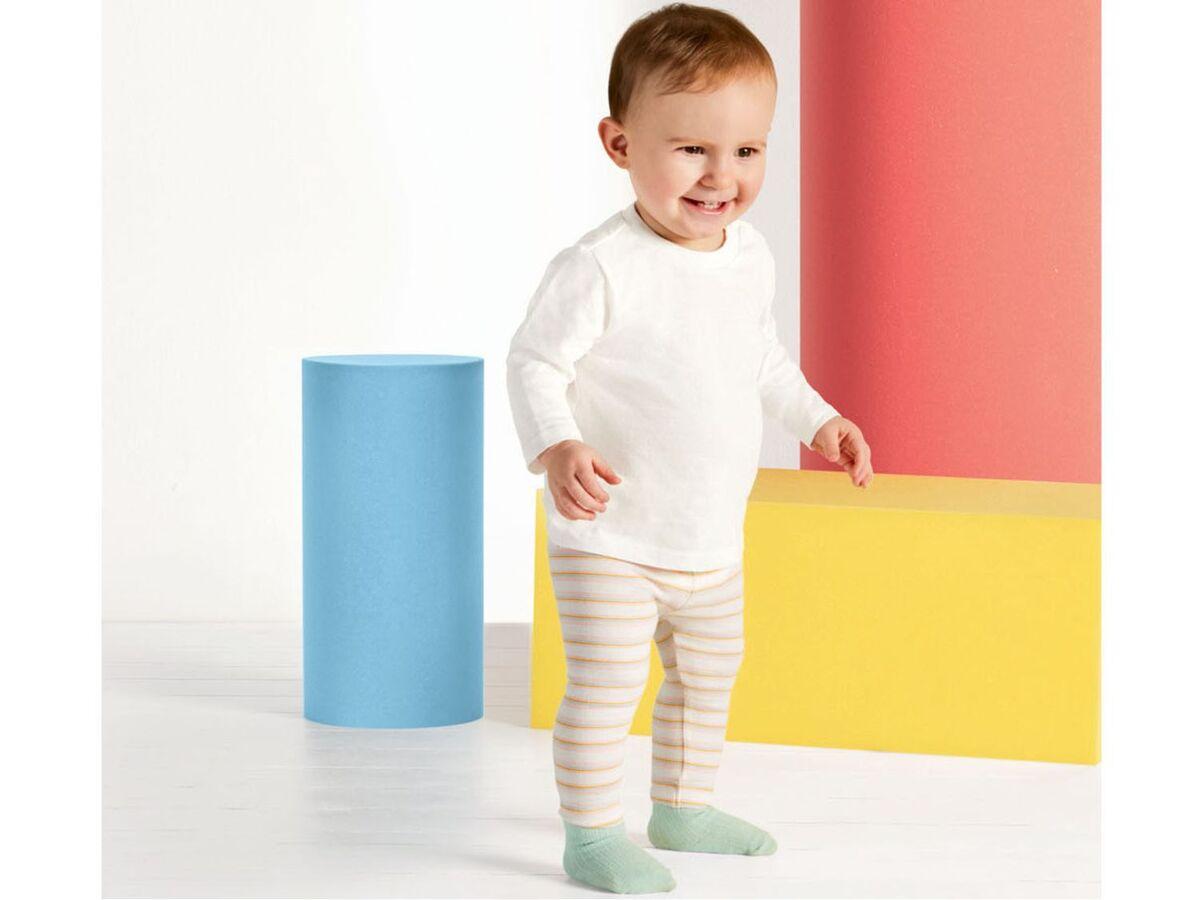 Bild 3 von LUPILU® Baby Leggings Mädchen, 2 Stück, mit elastischem Bund, mit Baumwolle