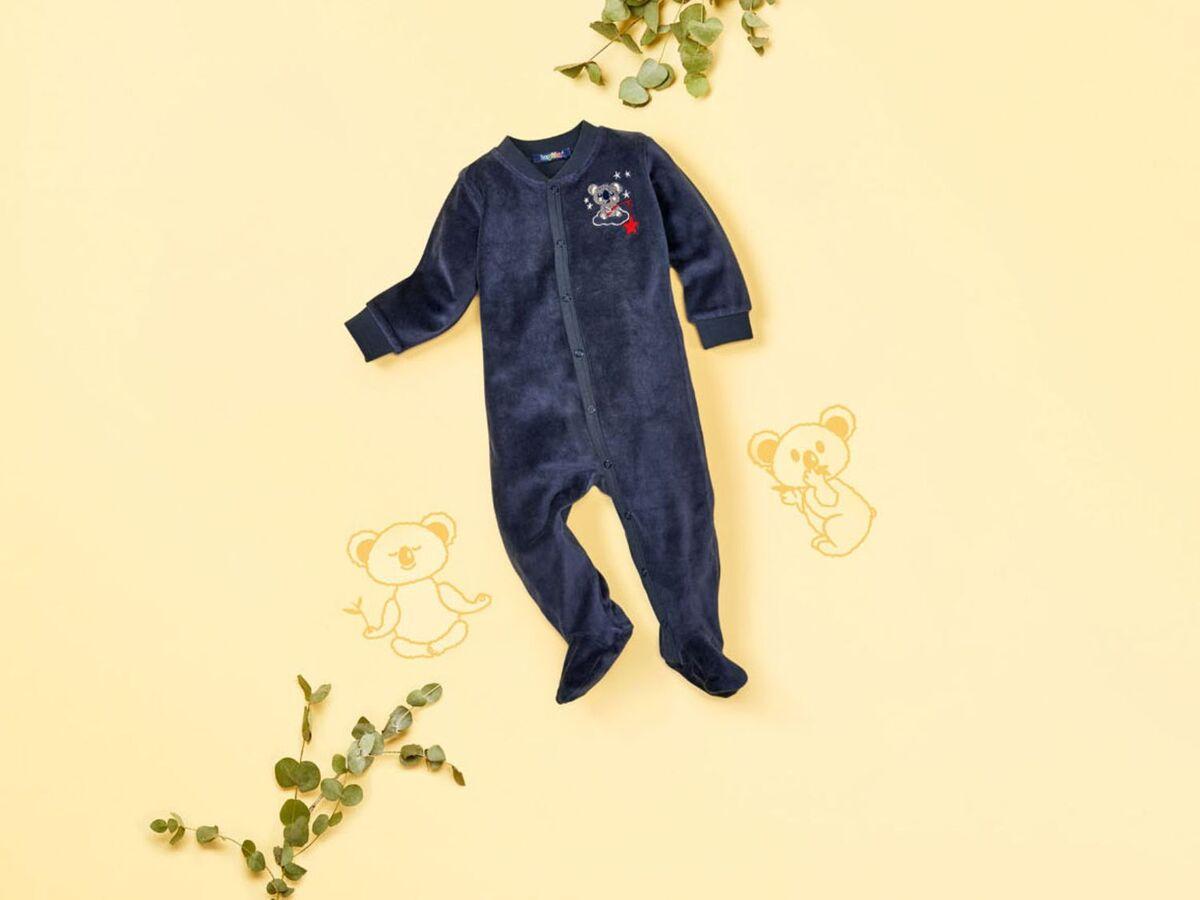 Bild 3 von LUPILU® Baby Schlafoverall Jungen, mit Druckknöpfen