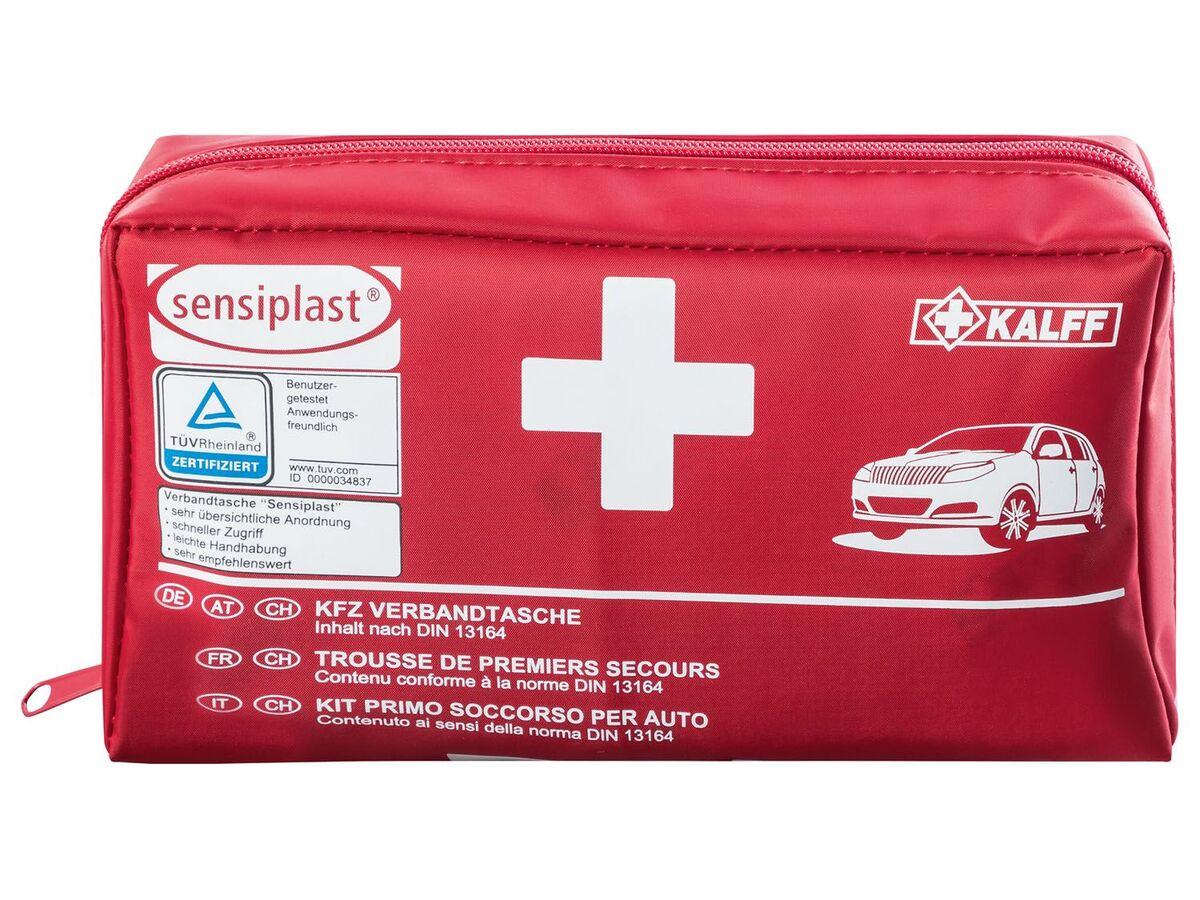 Bild 1 von SENSIPLAST® Autoverbandtasche, 44-teilig, mit Anleitung