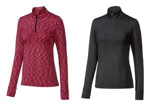 CRIVIT® Funktionsshirt Damen, Kinnschutz, mit Elasthan