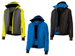 CRIVIT® Skijacke Herren, abnehmbare Kapuze, Schneefang