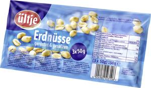 Ültje Erdnüsse geröstet und gesalzen 3x 50 g