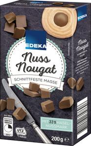 EDEKA Nussnougat schnittfeste Masse 200 g