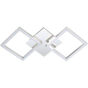 LED-Deckenleuchte - Chrom - Alu - 47x23 cm