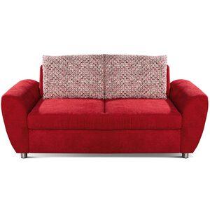 2-Sitzer-Sofa - bordeaux - Federkern - Basismodell