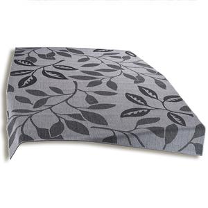 In-/Outdoorteppich - grau - Blätter - 80x150 cm
