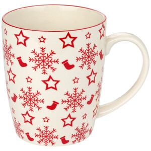 Tasse mit Schneeflocken-Allover