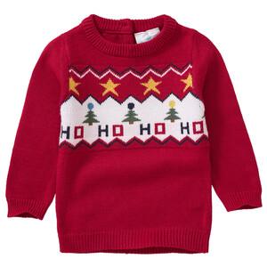 Baby Strickpullover mit Weihnachts-Motiv
