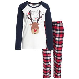 Damen Schlafanzug mit weihnachtlichem Dessin