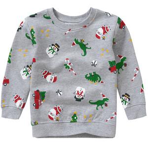 Jungen Sweatshirt mit Weihnachts-Allover