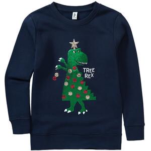 Jungen Sweatshirt mit Weihnachts-Motiv
