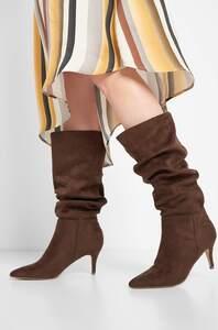 Stiefel in Velourslederoptik