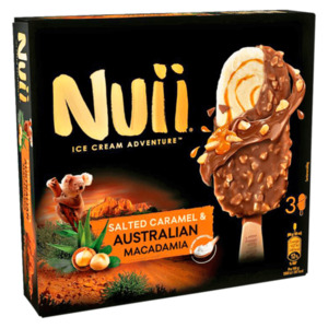Nuii Ice Cream Adventure Salted Caramel & Australian Macadamia