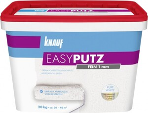 Knauf Easyputz 20 kg, 1,0 mm Körnung, schneeweiß