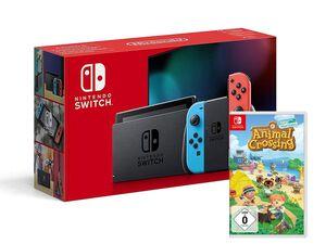 Nintendo Switch Konsole Neon-Rot/Neon-Blau + Animal Crossing: New Horizons