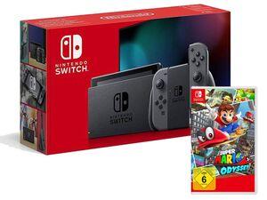 Nintendo Switch Grau + Super Mario Odyssey