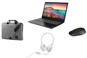 Lenovo Notebook S145-15AST (81N30058GE) ,  inkl. Tasche, Maus, Headset