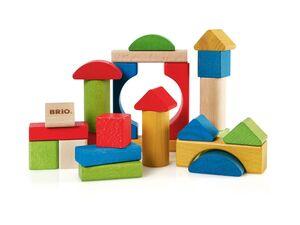 BRIO 30114 »Bunte Holzbausteine 25Teile«, 7 verschiedene Formen, ab 1 Jahr