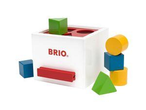 BRIO 30250 »Sortierbox weiß«, 7-teilig, mit 6 Holzbausteinen, ab 1 Jahr