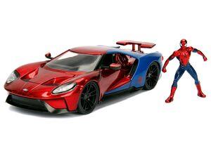 DICKIE Marvel Spiderman & 2017 Ford GT, Auto und Spiderman, ab 8 Jahren