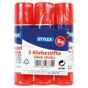STYLEX®  Schreibwaren Klebestifte 3 x 8 g