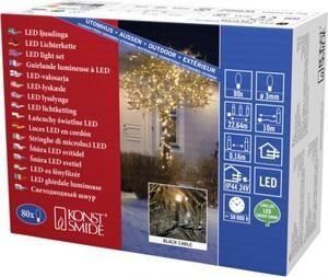 Konstsmide LED Microlichterkette für Außen 80 LED, bernstein