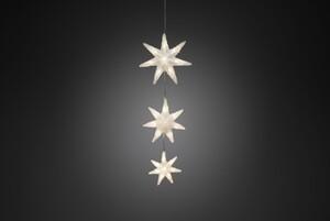 Konstsmide LED Dekolichterkette 3 Acryl Sterne 24 LED, warmweiß