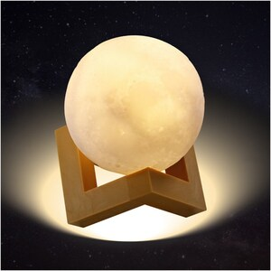 LED Moonlight mit 3D Mond Printing