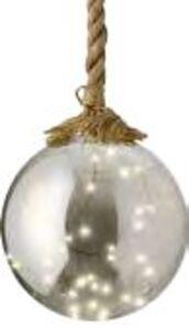 LED-Kugel mit Juteseil