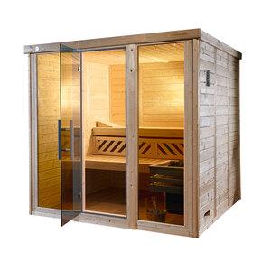 "Weka              Desgin-Sauna ""Kemi Panorama 2"", 7,5 kW"