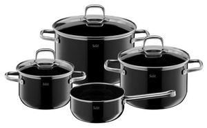 WMF Topfset Elegance Line Black 4tlg.