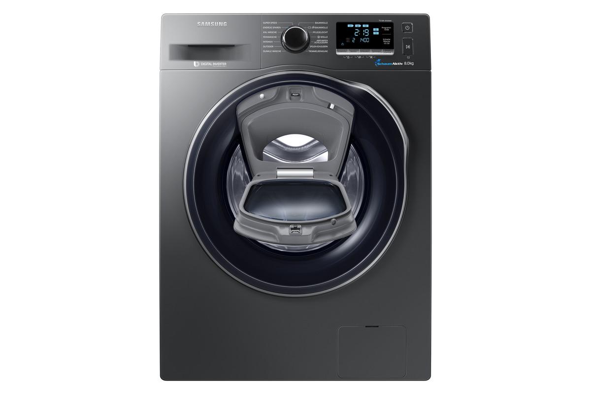 Bild 1 von SAMSUNG WW80K6404QX/EG Waschmaschine mit 1400 U/Min. in Edelstahl/Inox