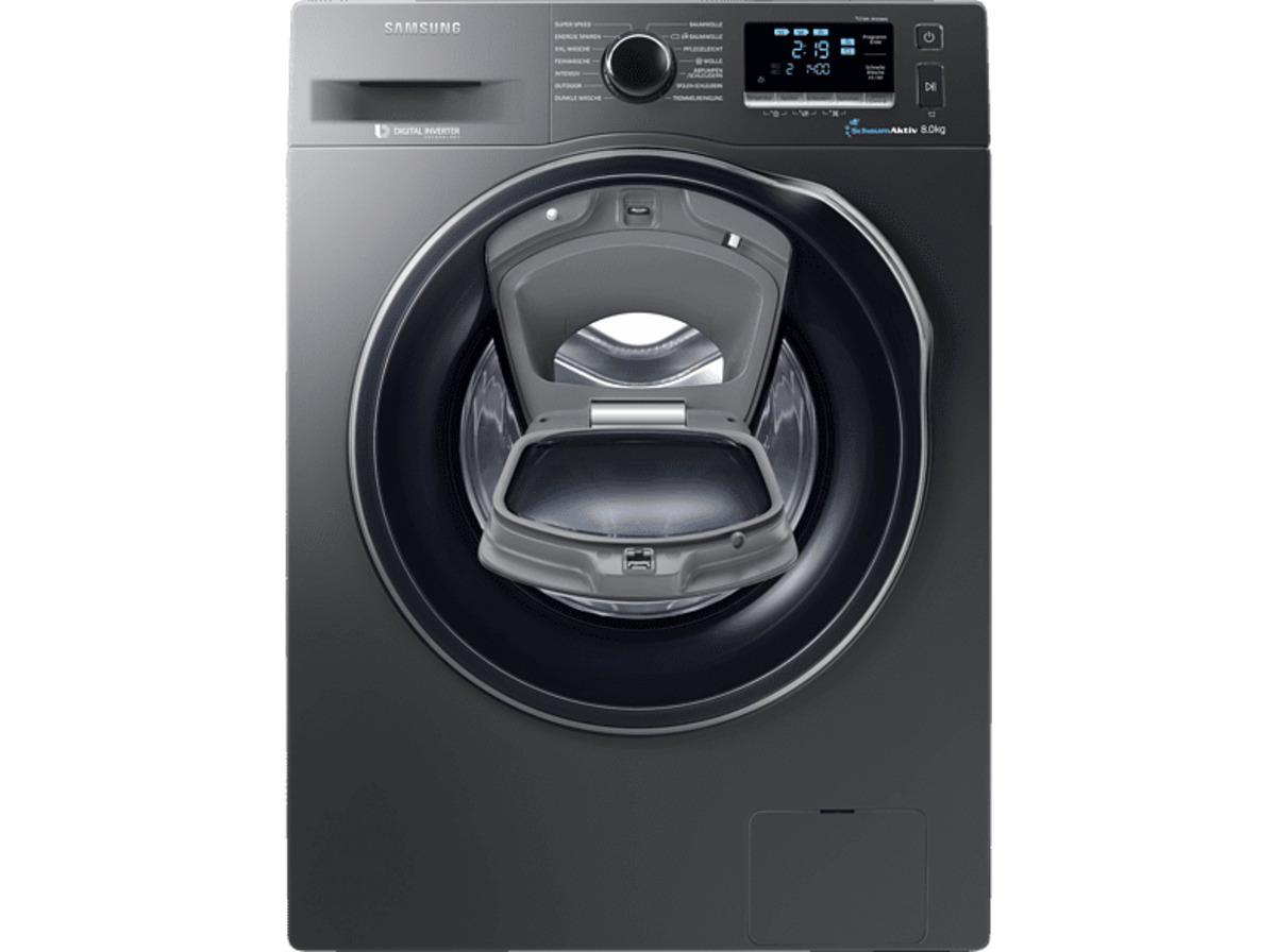 Bild 2 von SAMSUNG WW80K6404QX/EG Waschmaschine mit 1400 U/Min. in Edelstahl/Inox