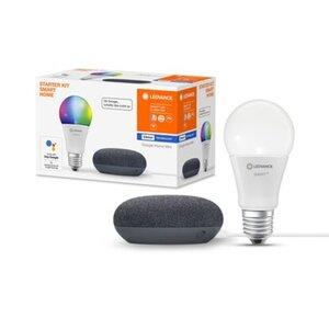 Ledvance Google Home Mini Starter-Set Speaker Schwarz + Filament Leuchtmittel