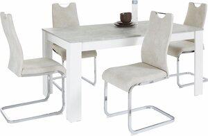 Homexperts Essgruppe »Zabona«, (Set, 5-tlg), 4 Stühle und 1 Tisch