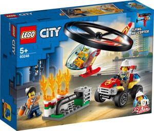 Lego City Einsatz mit dem Feuerwehrhubschrauber