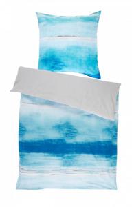 Home Ideas Living Feinbiber Bettwäsche, 155x220 cm, blau