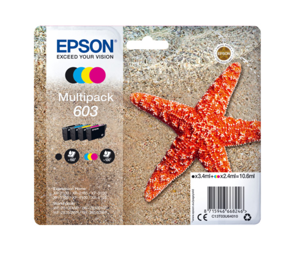 EPSON T 603 Multipack (Cyan, Magenta, Gelb)