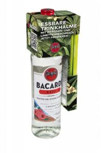 Bacardi Razz mit Trinkhalmen