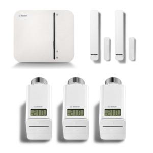 Bosch Smart Home Starter Set smartes Heizen mit Google Home Mini Kreide
