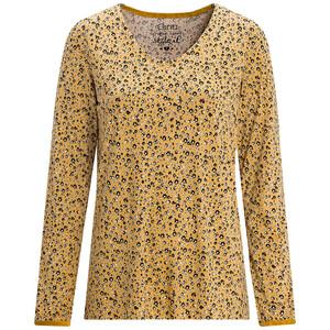 Damen Langarmshirt mit floralem Allover-Print