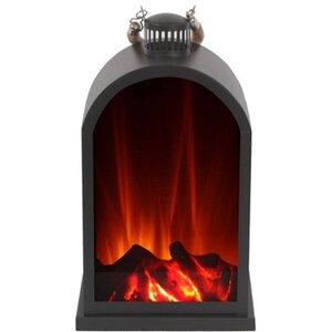 El Fuego Laterne mit Flammeneffekt AY0549