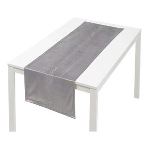 Tischläufer mit Diamant-Applikation, ca. 40x140cm
