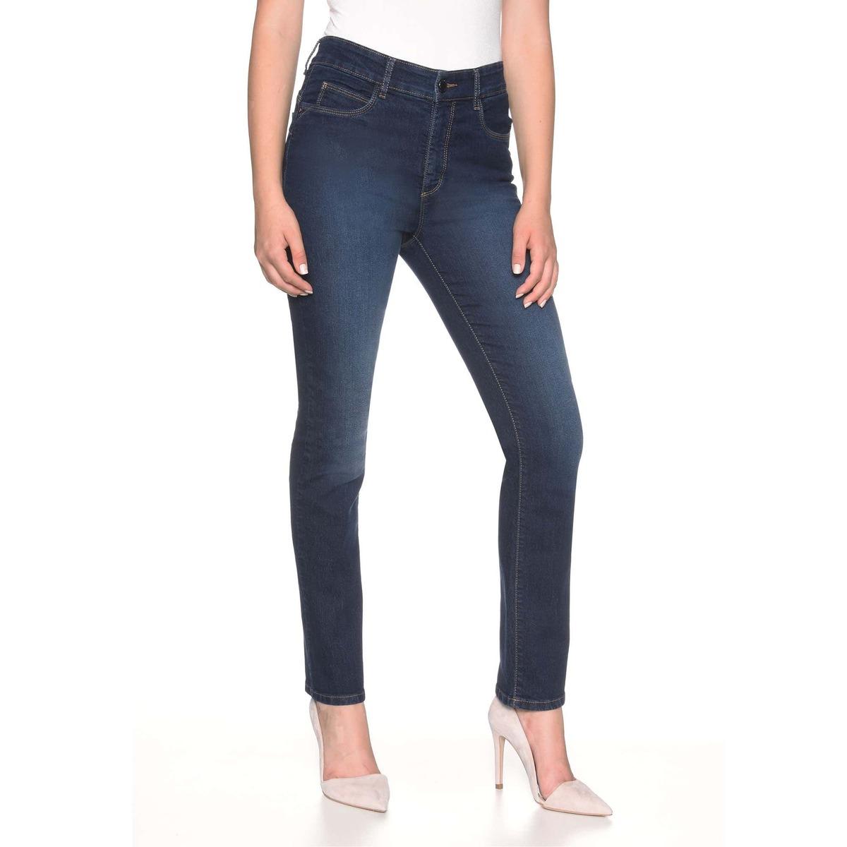 Bild 1 von Damen-Stooker-Jeans mit High-Waist-Cut, große Größen