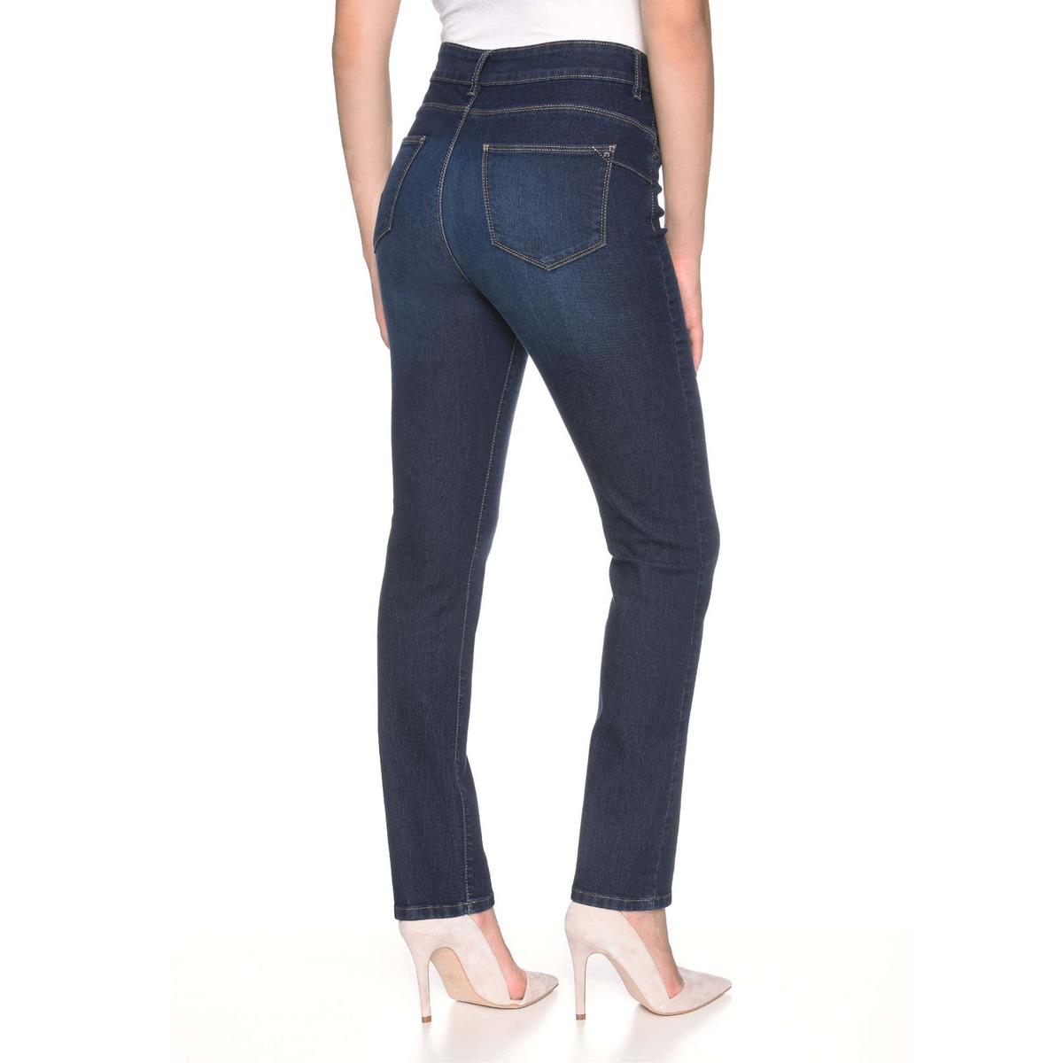 Bild 2 von Damen-Stooker-Jeans mit High-Waist-Cut, große Größen