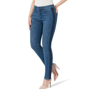 Damen-Stooker-Jeans mit seitlichem Zierband